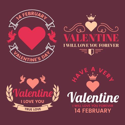 Valentin mall banner Vektor bakgrund för banner