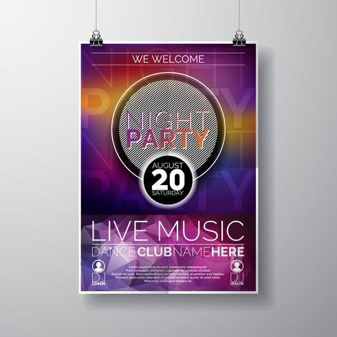 Nacht-Party-Flyer-Design vektor