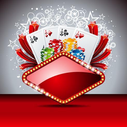 Vektor gambling illustration med casino element