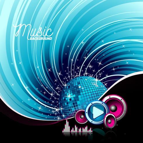 Illustration för ett musikaliskt tema vektor