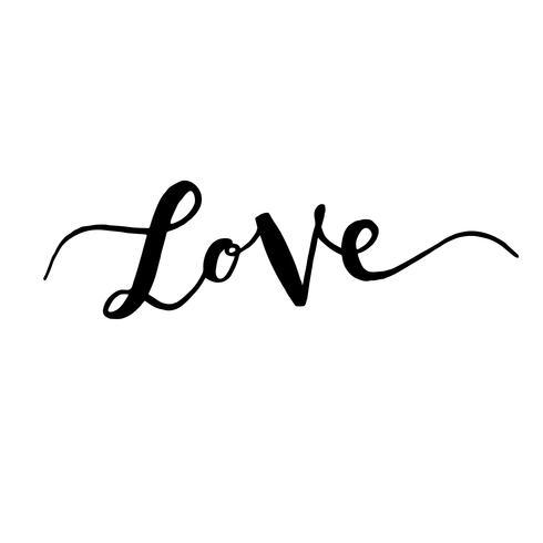 Inskriptions kärlek, handritade etiketter för hälsningskort, vektor