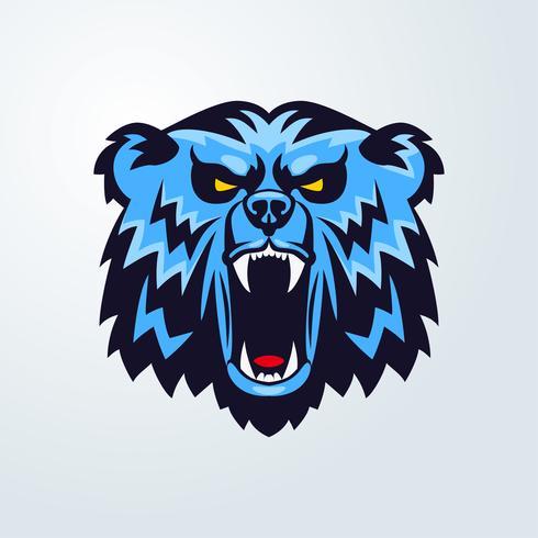Bärenkopf Logo Maskottchen Emblem vektor