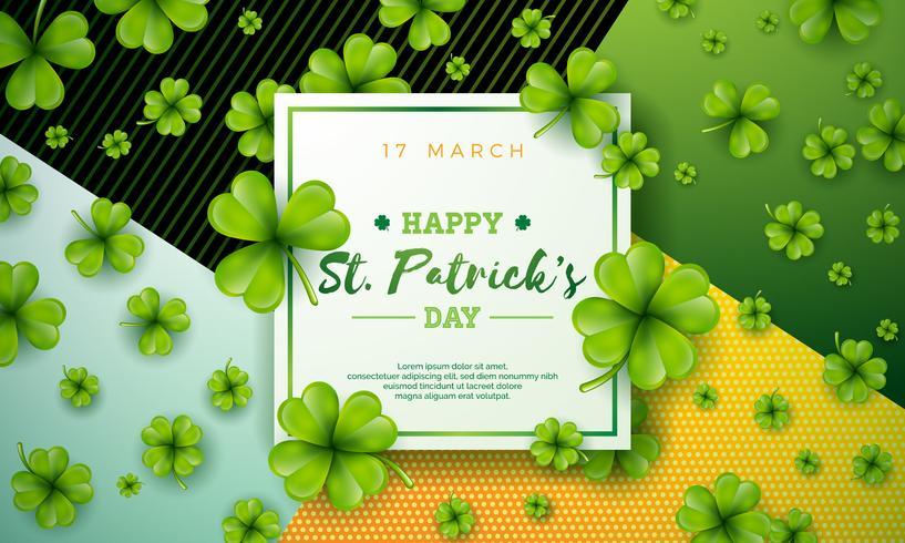 Glückliches St Patrick Tagesillustration vektor