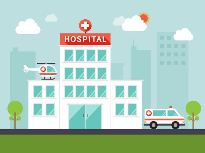 City sjukhus vektor