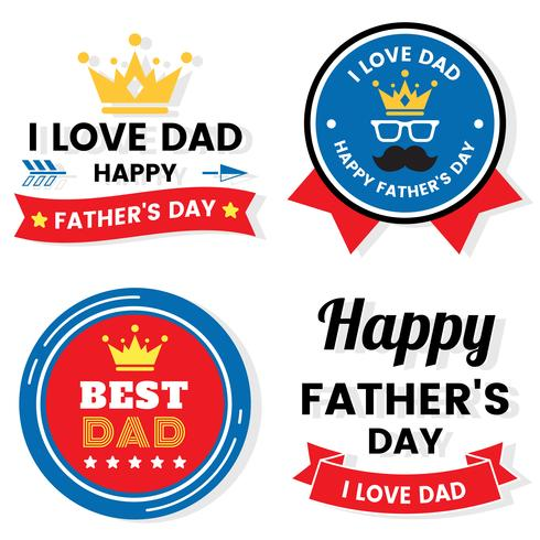 Vatertag Geburtstag Vektor Logo für Banner