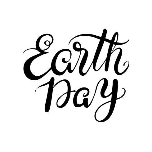 Der Ausdruck Tag der Erde. Beschriftung vektor