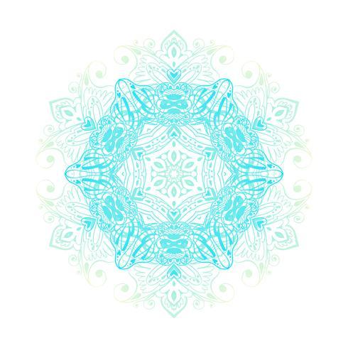 Mandala banner, indisk stil. vektor