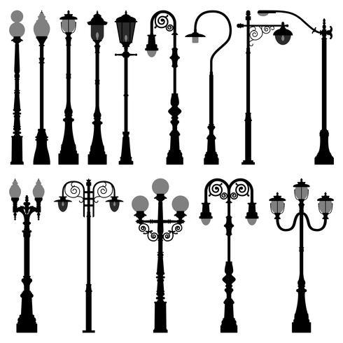 Lamp Post Set vektor