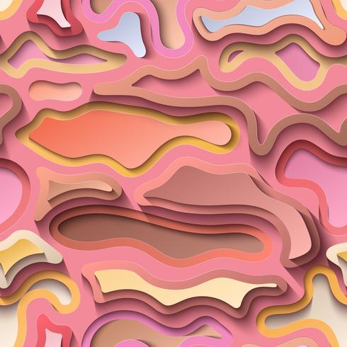 Abstrakt bakgrund, skärning av färgat papper med skugga. vektor