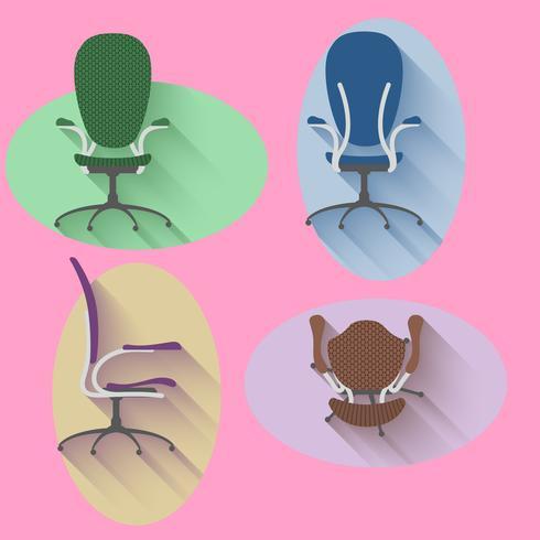 Fyra riktstol med platt design vektor