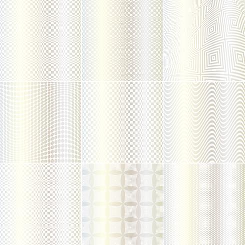Silberne und weiße Op-Art-Muster vektor