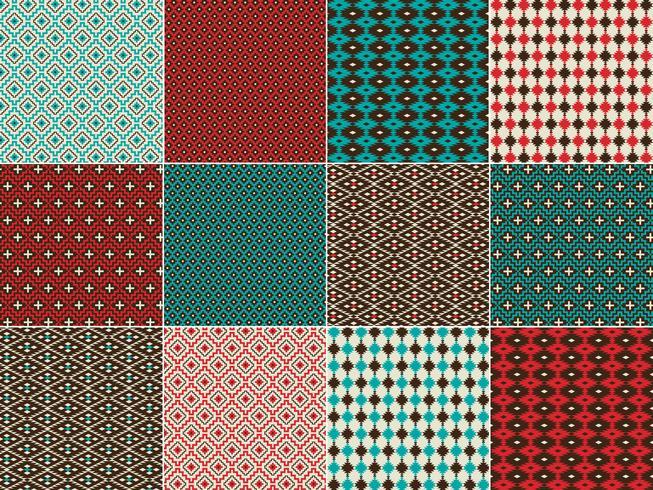 Amerikanische Ureinwohner inspirierte geometrische Muster vektor