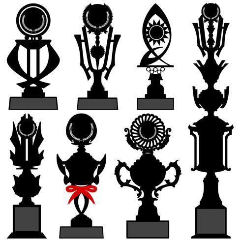 Trophy Award set. vektor