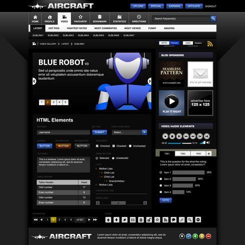 Webdesign-Elementvorlage. vektor