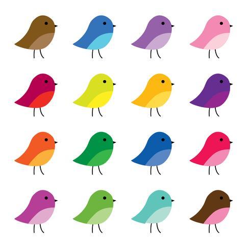 niedliche Vögel Clipart Grafiken vektor