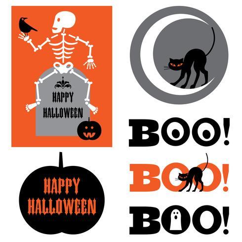 Halloween-Grafiken vektor