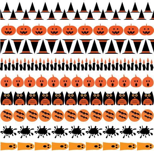 Halloween-Symbolgrenzen vektor