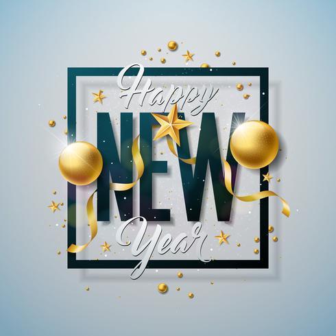 Frohes neues Jahr Illustration vektor