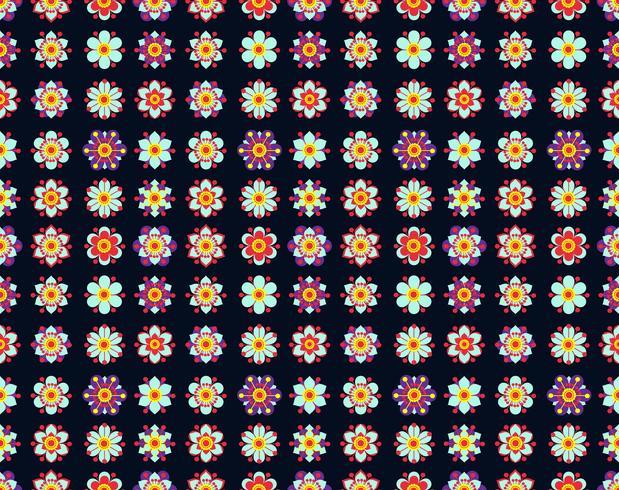 Nahtloses Muster von gelben Blumen der Weinlese. vektor