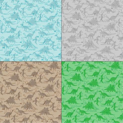 Dinosaurier-Hintergrundmuster vektor