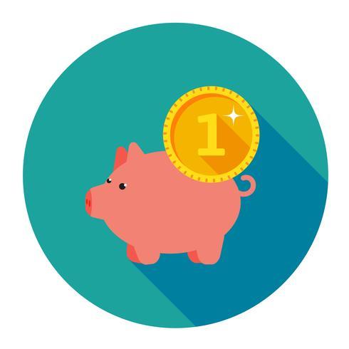 Infografiken von Schweinchen drei mit Münzen vektor
