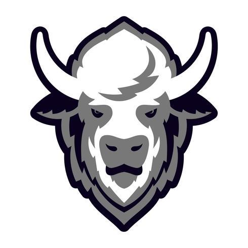 buffelhuvudlogo maskot vektor