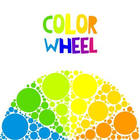 Farbrad oder Farbkreis auf Hintergrund vektor
