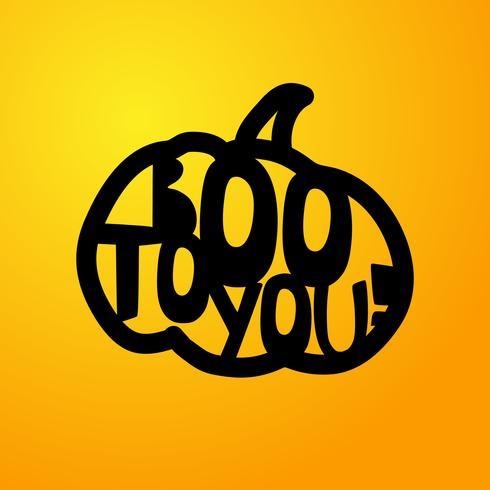 Halloween - BOO für dich. Laserschneideschablone vektor