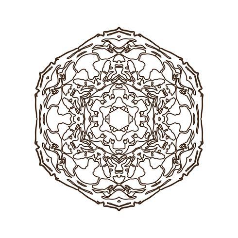 Mandala Vintage dekoratives Element. vektor