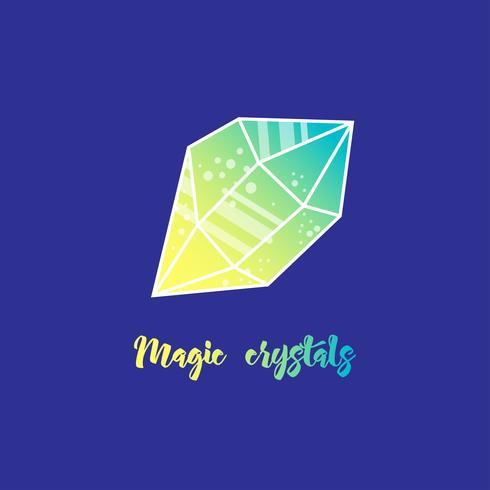 Magiska kristaller av pyramidform. vektor