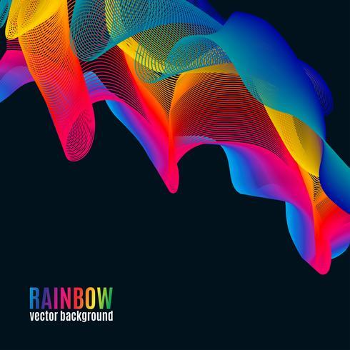 Rainbow Line bakgrund vektor