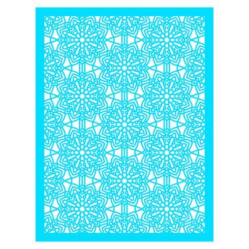 Quadratisches Musterfeld zum Laserschneiden mit Mandalas vektor