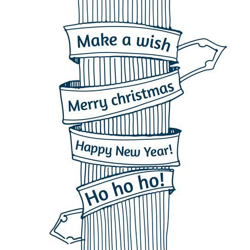 Gott nytt år och god jul vektor