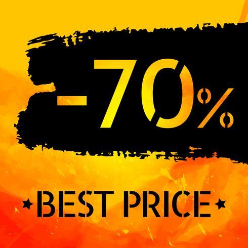 Verkauf Vektor grungy Design Poster