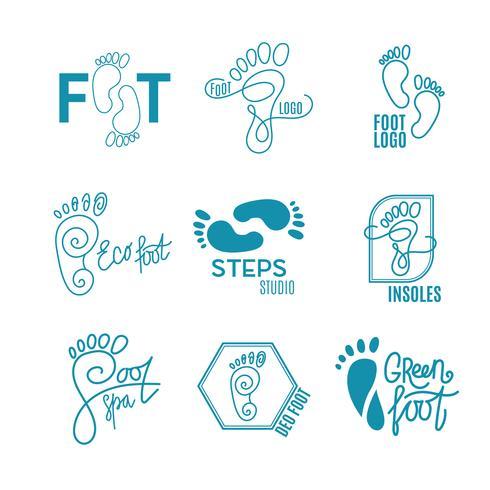 Logo der Mitte der gesunden Füße. vektor