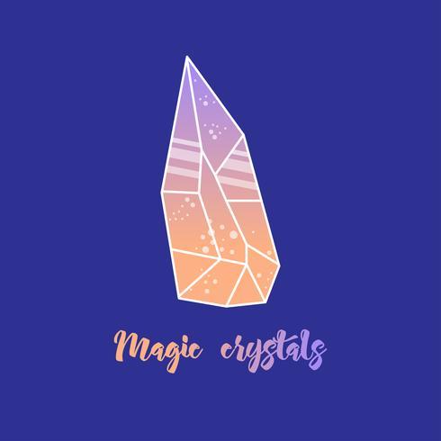 Magische Kristalle in Pyramidenform. vektor