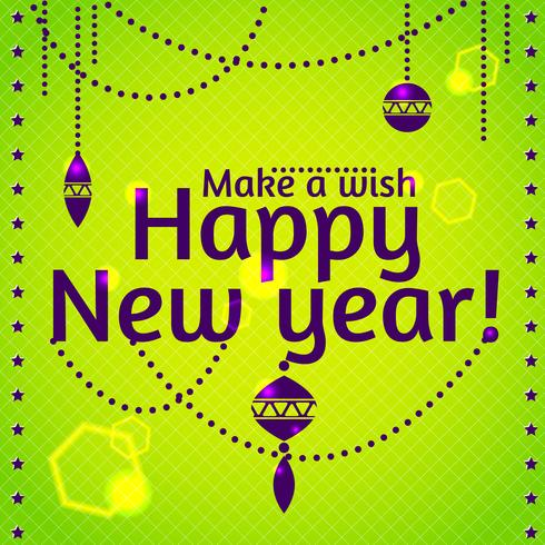 Frohes neues Jahr und frohe Weihnachten vektor
