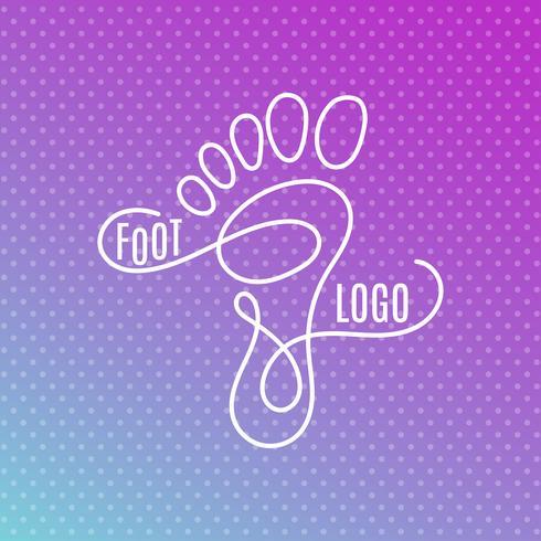 Menschliche Fußabdruck Zeichen Symbol. Barfuß-Symbol Fuß-Silhouette vektor