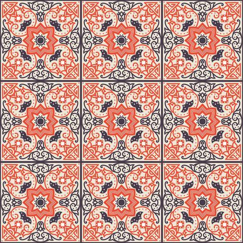 Talavera-Fliese Lebhaftes mexikanisches nahtloses Muster, vektor