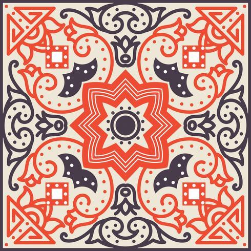 Talavera kakel. Levande mexikanskt sömlöst mönster, vektor