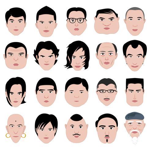 Männliche Gesichter vektor