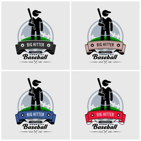 Baseball club logo design. vektor