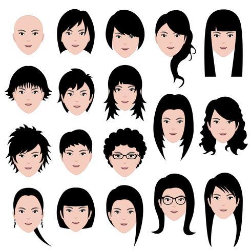 Weibliche Gesichter vektor