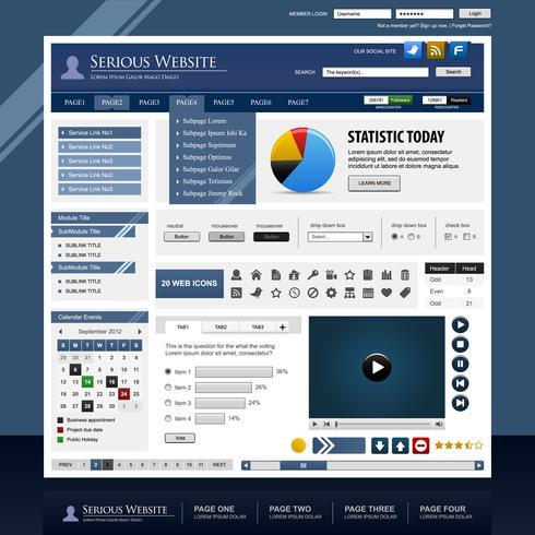 Web Design Elementvorlage. vektor