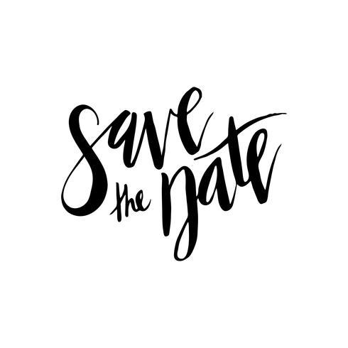 Spara datumet, bröllopsinbjudningar. vektor