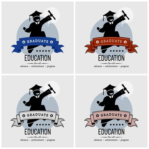 Student Abschluss Logo-Design. vektor
