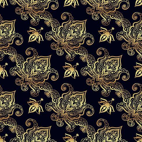 Sömlösa mönster av ryska motiv av nordlig målning vektor
