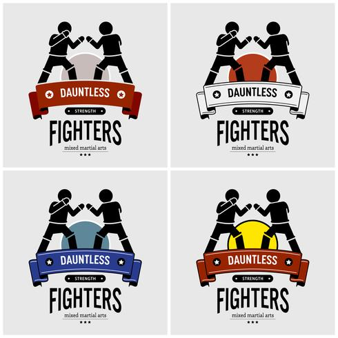 MMA Mixed Martial Arts Logo Design. vektor
