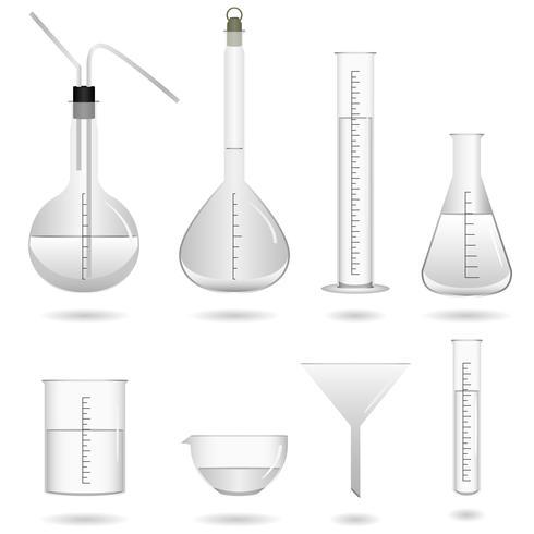 Wissenschaftliche chemische Laborausstattung. vektor