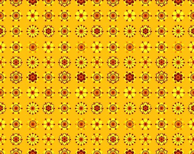 Seamless mönster av vintagegula blommor. vektor